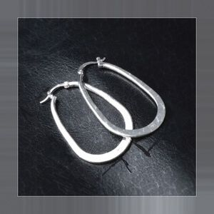 Jewelry - 925 Stamped Oval Hoops Large